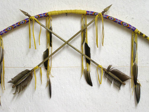 Native American Navajo Made Laced Chief Bow