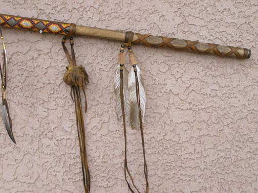 Native American Old Style War Lance and Spear