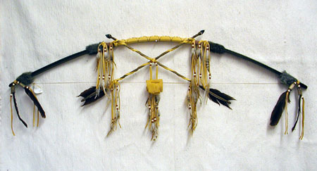 Native American Navajo Made Cross Bow with Medicine Bag