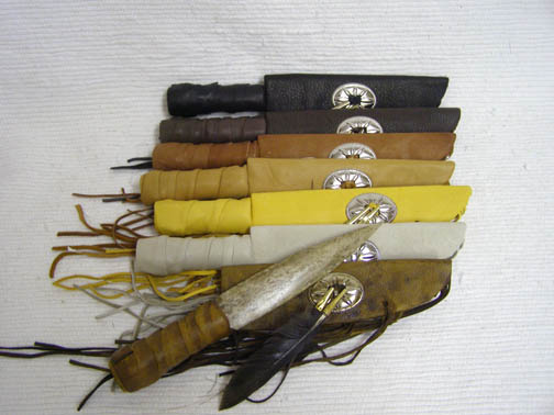 Navajo Made Knife with Sheath and Concho