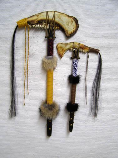 Creek Made Jawbone Tomahawks