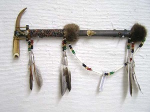 Creek Made Deer Horn Spirit Tomahawk
