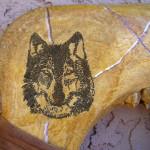 Native American Creek Made Spirit Totem Buffalo War Club
