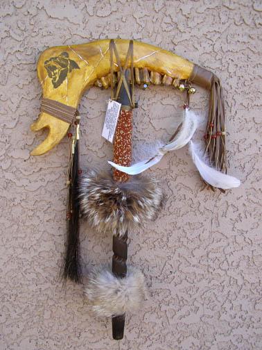 Creek Made Spirit Totem Buffalo War Club