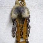 Native American Cherokee Made Cross Fox Cradleboard