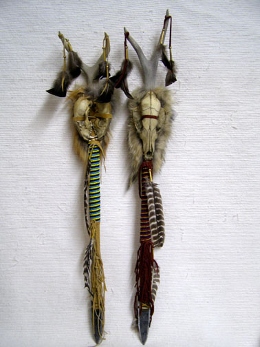 Native American Cherokee Made Animal Skull Trail Marker