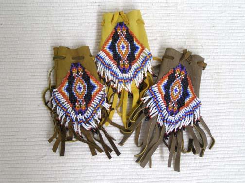 Navajo Made Handbeaded Medicine Bag
