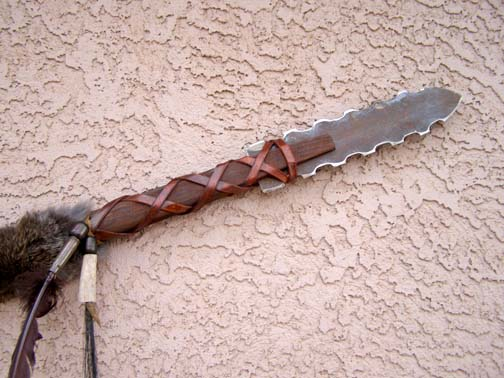 Navajo Made Rawhide Wrapped Spear