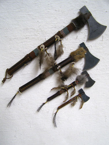 Navajo Made Rawhide Wrapped Hatchets