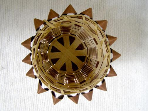 Native American Iroquois or Chippewa Made Split Ash Basket