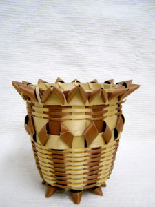 Iroquois or Chippewa Made Split Ash Basket