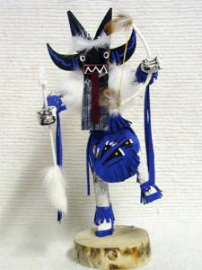 Navajo Made Angry Warrior Dancer Kachina Doll