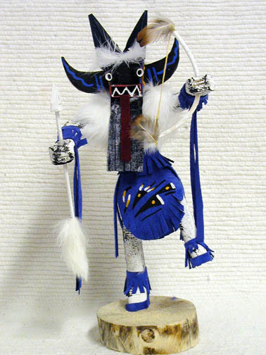 Navajo Made Angry Warrior Dancer Kachina Doll