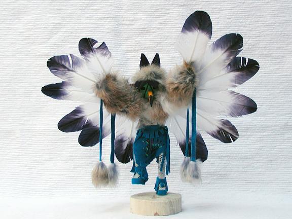 Navajo Made Ascending Eagle Kachina Doll