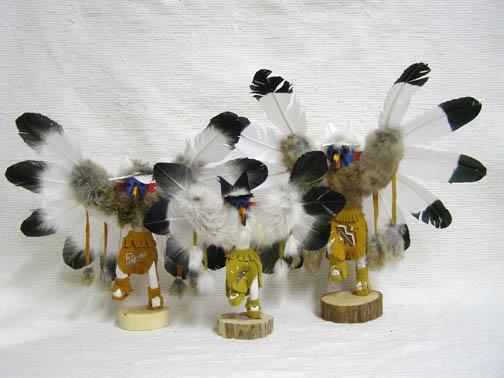 Navajo Made Ascending Eagle Kachina Dolls