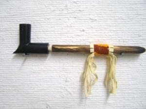 Medium Black Pipestone Elbow Pipe