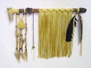 Lakota Fringed Ceremonial Pipe