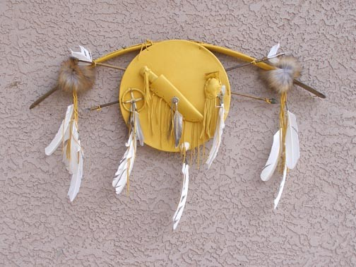 Navajo Bow and Arrow with Warrior Shield