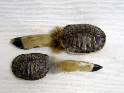 Cherokee and Navajo Made Deer Foot and Turtle Rattle