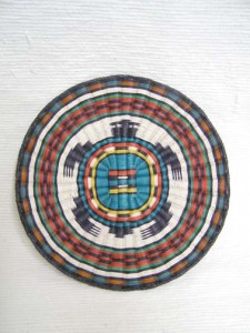 Hopi Made Wicker Plaque with Turtle