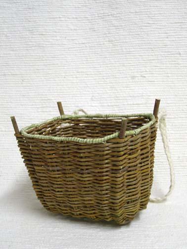 Native American Hopi Made Small Sumac Burden Basket