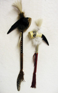 Cherokee Made Ceremonial Horn Rattles