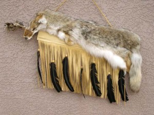 Cherokee Made Coyote Quiver with Arrows