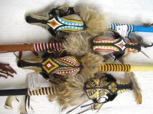 Cherokee Made Coyote Spirit Dance Stick