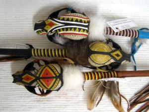 Cherokee Made Raccoon Spirit Dance Stick
