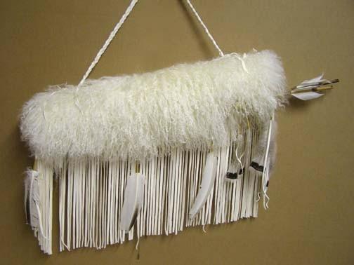 Cherokee Made Tibetan Lamb Quiver with Arrows - Quiver