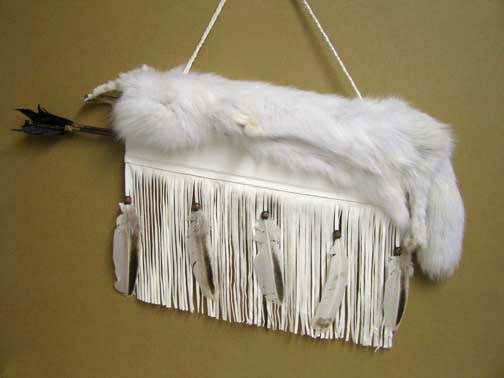 Cherokee Made Arctic Fox Quiver with Arrows