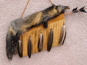 Cherokee Cross Fox Pelt Quiver w/Arrows