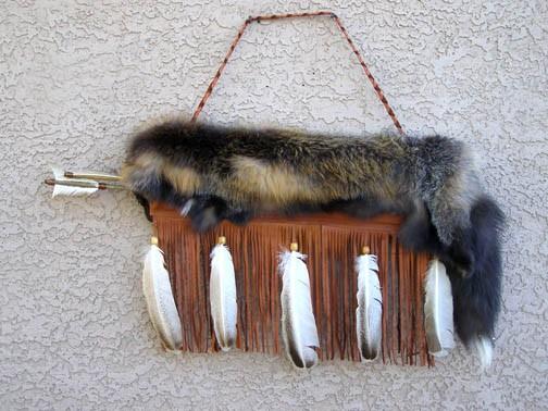 Fox Pelt Quiver with Arrows