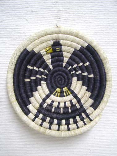 Hopi Made Coil Plaque with Eagle
