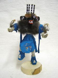 Navajo Made Four-Horn Warrior Kachina Dancer Doll