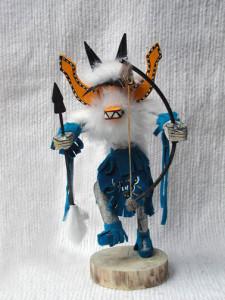 Navajo Made Fox Kachina Dancer Doll