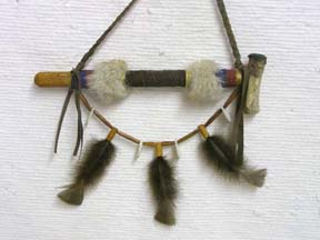 Native American Navajo Made Wrapped Ceremonial Pipe