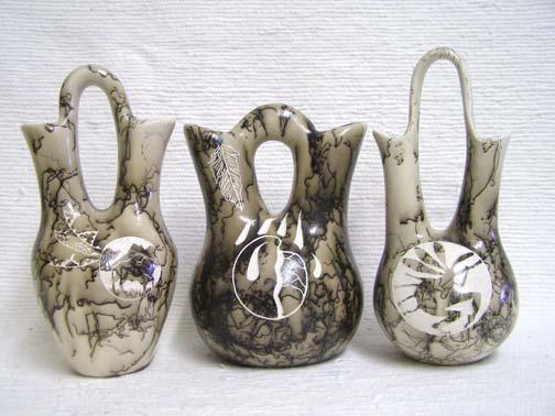 Medium Ceramic Horsehair Wedding Vase Pottery