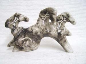 Ceramic Horsehair Three Spirit Horses