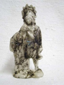 Ceramic Horsehair Indian Chief and Maiden