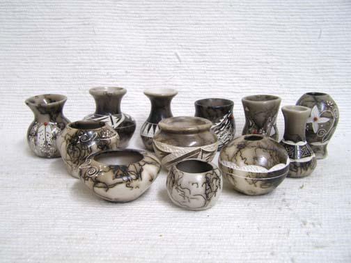 Ceramic Horsehair Tiny Pots