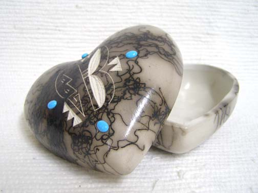 Ceramic Horsehair Medium Heart Jewelry Box