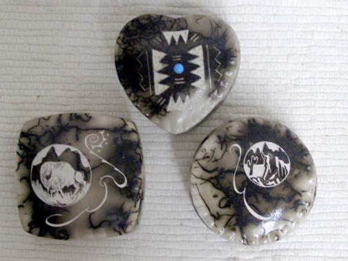 Ceramic Horsehair Tiny Jewelry Boxes