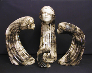 Ceramic Horsehair Woman of the Wind
