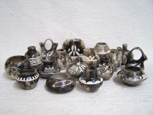 Ceramic Horsehair Small Pots