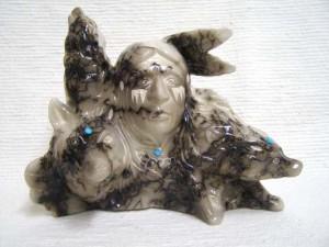 Ceramic Horsehair Wolf Walker