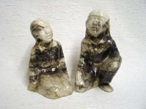 Ceramic Horsehair Indian Kids
