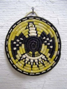 Hopi Made Coil Plaque with Bald Eagle