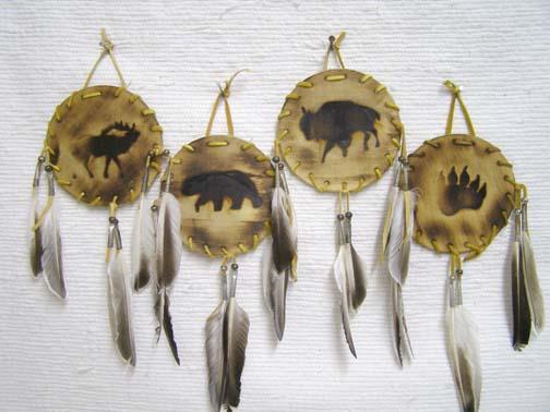 Navajo Made Wood Burned Shields