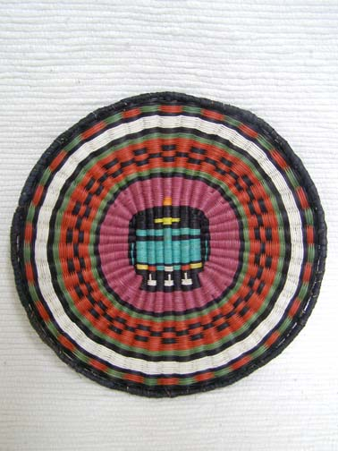Hopi Made Wicker Plaque with Longhair